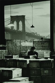 Fish Market in New York City, 1964. Photo by Jan Lukas I did visit this area. Smells really bad~!