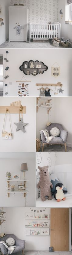 Grey, White & Wood Gender Neutral Nursery | Unisex Nursery | Nursery Interior | Children's Room #kidsroomideasunisex