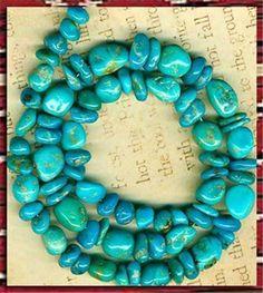 "Southwest Kingman Mine Turquoise Beads 2 Sizes Blue Green Natural 16"" Strd | eBay"