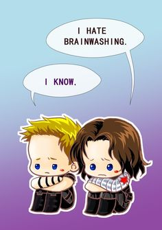 I hate brainwashing. I know. Art by KingBirdKathy. The Avengers. Captain America and the Winter Soldier