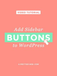 Add Sidebar Buttons to WordPress