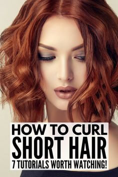 How to Curl Short Hair | If you want to know how to curl short hair with a curling iron, with a flat iron / straightener, with a wand, or the best overnight techniques WITHOUT heat, we've got you covered. Whether you have really short hair, a bob, a lob, or something in between, these EASY hair tutorials for beginners will teach you how to get sexy waves fast. We've also included our favorite curl defining products!!!