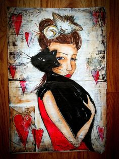 Furry Friend Tribute I Love Cats Artwork - $10 gets donated to Meow House Cat Rescue with each purchase!