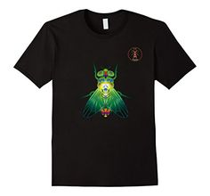 Cooties! La Roche Metallic Fly T-Shirt, Insect Bug Tee Shirt, $19.99. Please LIKE and Re-pin! http://www.amazon.com/gp/product/B01BGABHOU For your favorite entomologist or urban city dweller, in men, women and youth sizes. Metallic rainbow gradient art on royal blue, brown, black, burgundy and navy.