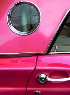 hot pink car
