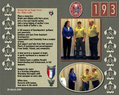 Scrapbook samples for Boy Scouts - Google Search