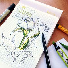 White peony sketch by Anastasya Klyputenko #sketch #peony #white #white_peony #june #drawing #sketching #anastasya_klyputenko