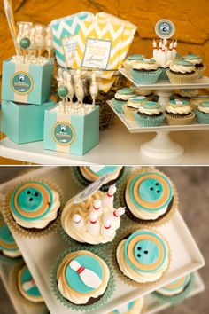 "Bowling Party Ideas - Hold those cake pops or lollipops with a 4"" aqua cube blumebox"
