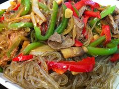 Japchae recipe, Korean Noodles!