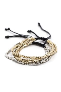 New today! The perfect stacking bracelet in Silver + Gold