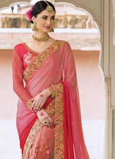 Titillating Pink Resham Work Net Designer Saree #indian #saree #trendy #red #bridal#bollewood #party wear #traditional#online #mangosurat#style #boutiques #shopping #fashion #modal #social #branding #sales #marketing #business #discount #deal #success #ethnic #creation #embroidery #classic #cloth #clothing #bridal wear#jardoshi #work #chiffon #acteress #navel #desi #new #woman fashion #designersuit #bridal