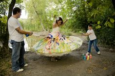 Trash the dress with paint! #wedding #photography #minnesota www.eileenkphoto.com