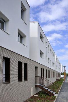 65 logements pont audemer 27 zac des tangs 2008 architecte rouen cba architecture rouen. Black Bedroom Furniture Sets. Home Design Ideas