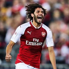 Mohamed El Neny Photos - Mohamed Elneny of Arsenal celebrates scoring a goal during the match between the Western Sydney Wanderers and Arsenal FC at ANZ Stadium on July 2017 in Sydney, Australia. - Western Sydney v Arsenal Arsenal Fc, Community Shield, League Gaming, Fulham, Great Team, Premier League, Liverpool, How To Get, Football