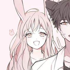 new ideas for anime art girl bunnies Anime Girls, Kawaii Anime Girl, Anime Art Girl, Anime Couples Drawings, Cute Anime Couples, Pretty Anime Girl, Anime Love, Manga Romance, Kawaii Bunny