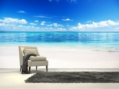 Sea and Sand wall mural room setting