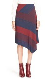 Tory Burch Bias CutStripe A-LineMidi Skirt available at Nordstrom.