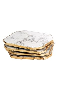 Samantha Wills has launched home decor: White Howlite Marble Coasters.