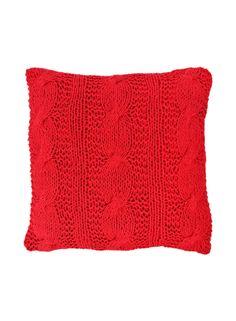 A Loja do Gato Preto | Capa de Almofada Tricot Vermelho #alojadogatopreto
