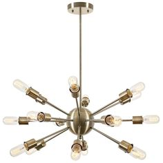 A classic starburst brings retro flair to a modern kitchen. The Sputnik Style Chandelier is a perfect example, offering updated allure with an unmistakably familiar aura that we simple can't resist. A