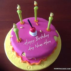 Cake Images Himanshu : Decorated Happy Birthday Cakes For Friends With Name B ...