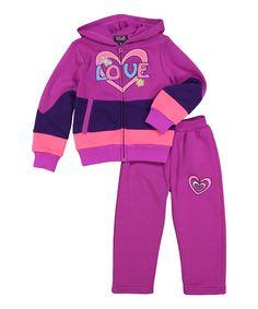 Violet 'Love' Jacket & Pants - Infant, Toddler & Girls