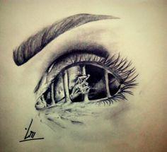 The eyes of lover Chest Tattoo Stencils, Eye Pencil Drawing, Aluminum Foil Art, Dragonfly Tattoo Design, Eye Sketch, Bonnie Clyde, Dark And Twisted, Gorgeous Eyes, Eye Art