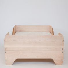 The Echo Toddler Bed is asingularly simple piece by American brand Kalon Studios. Each surface is gently sculpted so that the piece slopes in at both the top and bottom, giving a soft cradling effect and lending a beautiful, unified quality to the form. Edges are rounded over and soft. One of the most important considerations of the design is …