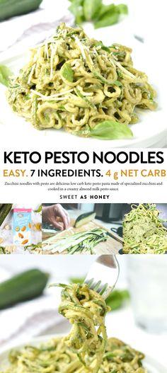 Zucchini Carbonara, Zucchini Pasta Recipes, Pesto Zucchini Noodles, How To Cook Zucchini, Zuchinni Pasta, Recipe Zucchini, Vegan Zucchini, Chicken Zucchini, Pesto Sauce For Pasta