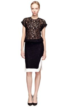 Shop T-Shirt Lace Dress by No. 21 Now Available on Moda Operandi