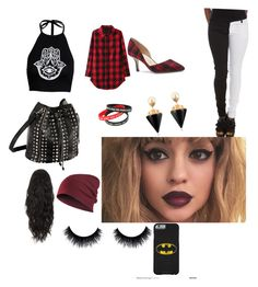 """Causal punk movie date"" by smileyface3101 on Polyvore featuring Boohoo, Sole Society and Vita Fede"
