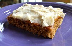 Grain-free Frosted Banana Bars Recipe #sugarfree #grainfree #glutenfree #dairyfree #soyfree #guiltfree #easyrecipes