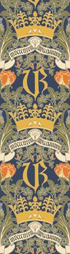 Victoria Regina by: Trustworth Studios, a British design studio, has some of the most beautiful original wallpaper designs.
