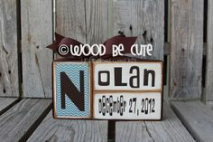 Wood Block UNFINISHED DIY Kit Baby Announcement Gift Kid Nursery Bedroom Personalized home decor on Etsy, $6.00