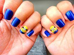 Top 35 Cutest Minion Nail Art Designs   Nail Design Ideaz