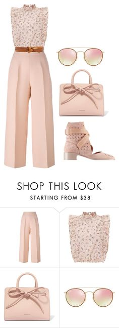 """""""Pale pink  --- MS"""" by ale-pink5 ❤ liked on Polyvore featuring Fendi, Mansur Gavriel, Ray-Ban and Isabel Marant"""