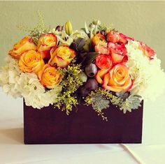 wooden box instead of glass vase