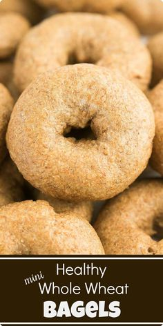 These homemade bagels are soft and chewy on the inside, and have a nice crisp crust on the outside. Serve plain, or with your favorite cream cheese or jam. Whole Wheat Bagel, Find Recipe, Homemade Bagels, Bagel Recipe, Silicone Baking Mat, Healthy Baking, A Food, Food Processor Recipes