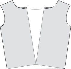 """Dessiner le devant d'une blouse encolure """"bénitieré - version très simple"""