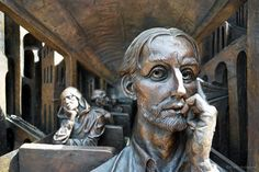 Passenger at  'The Meeting Place', London - St Pancras