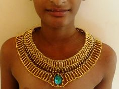 Egyptian Jewelry: How To Make The Prince's Necklace #scarab #prop #costume