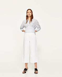Image 1 of STRIPED SHIRT WITH CORD from Zara