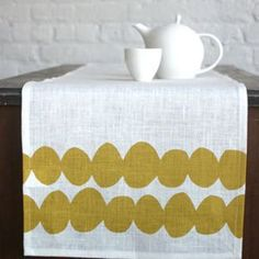 Potato Print Table Runner