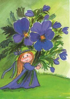 quenalbertini: by Virpi Pekkala Art Et Illustration, Illustrations, Art Floral, Fantasy Paintings, Fantasy Art, Funny Cartoon Gifs, Art Fantaisiste, Art Mignon, Bright Art