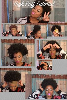 Ultimate natural hair puff tutorial for black women with natural hairstyles - http://www.shorthaircutsforblackwomen.com/natural-hair-puff/