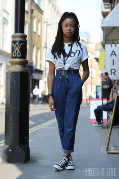 London | Converse | Dreadlocks | High-Waist Jeans | Silk Head Scarf | Casio Casio Watch | YES