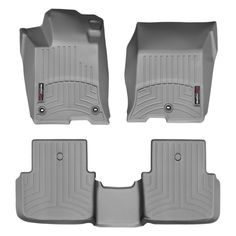 """WeatherTech 46734-1-2 Series Grey Front and Rear FloorLiner - FloorLiner(TM) In the quest for the most advanced concept in floor protection, the talented designers and engineers at WeatherTech(R) have worked tirelessly to develop the most advanced floor protection available today! The WeatherTech(R) FloorLiner(TM) accurately and completely lines the interior carpet giving """"absolute interior protection(TM)""""! The WeatherTech(R) FloorLiner(TM) lines the interior carpet up the front, back and…"""