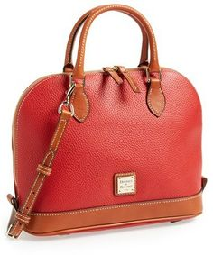 Dooney  Bourke Leather Zip Satchel