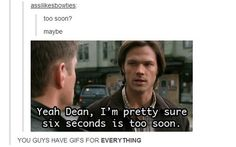 """They have a GIF for """"too soon:"""" 