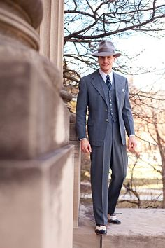 The Houndstooth Kid: Photo Shoots, Part 3  vintage 1941 3-piece suit